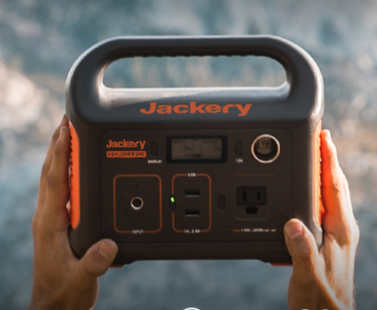 Jackery Portable Power Station Explorer 240, 240Wh Backup Lithium Battery, 110V/200W Pure Sine Wave AC Outlet, Solar Generator